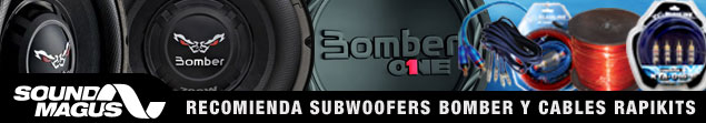 Soundmagus recomienda subwoofers Bomber y cables Rapikits